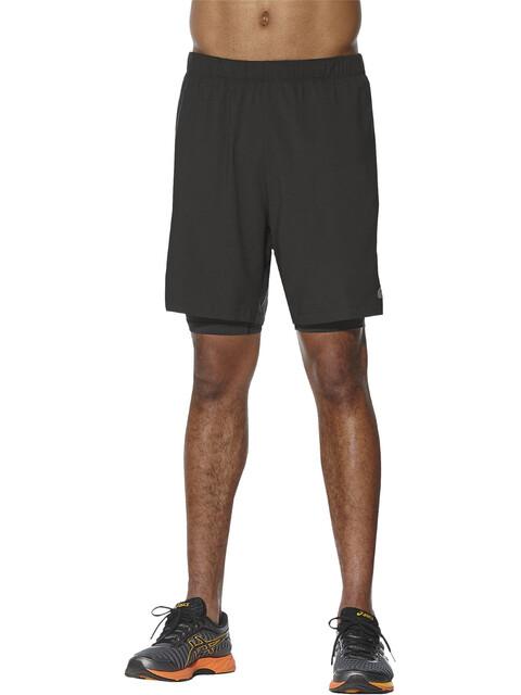 asics 7In 2-in-1 - Pantalones cortos running Hombre - negro